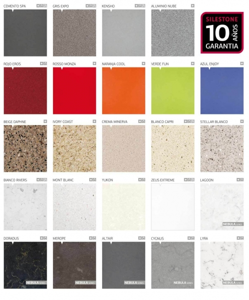 Porque elegir silestone marmoles goama sl for Colores marmoles cocina