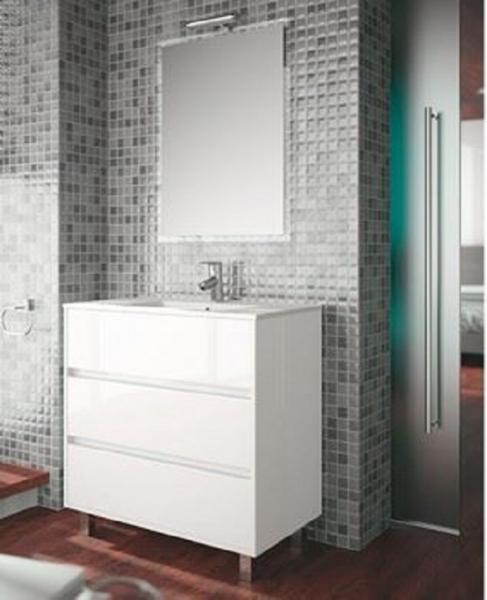 Mueble de ba o arenys salgar descuento con recogida en for Mueble lavabo blanco