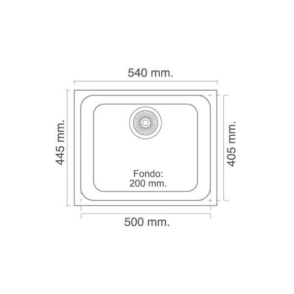 Poalgi fregadero sint tico modelo gandia 50 1 cubeta for Dimensiones fregadero