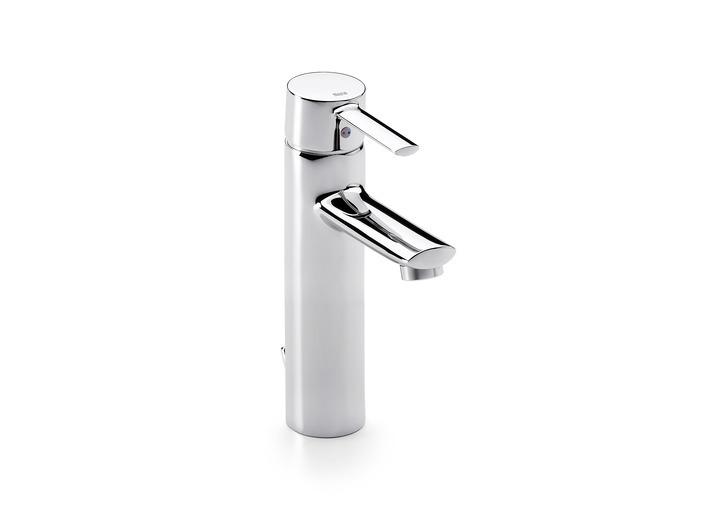 Grifo de lavabo con ca o alto targa roca a5a3460c00 marmoles - Grifo lavabo cano alto leroy ...