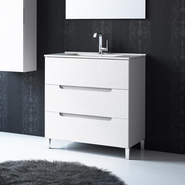 Mueble de ba o modelo cabo siros 3 cajones maestre for Muebles de lavabo de 60 cm