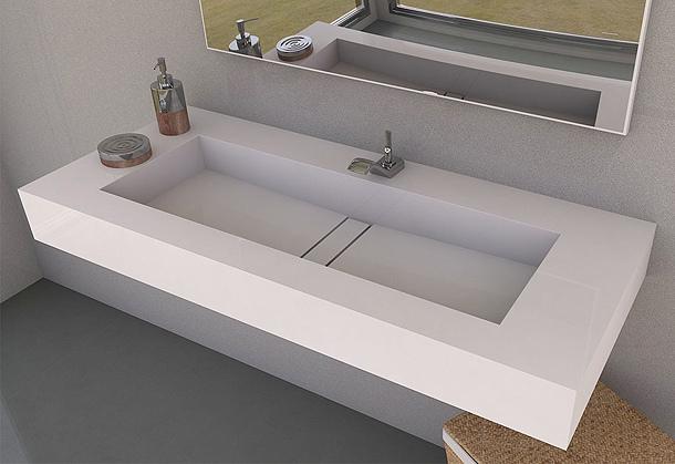 lavabo de silestone modelo reflection marmoles goama sl