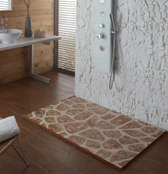 Plato de ducha stone serie rustico aquasilk env o gratis for Platos de ducha syan
