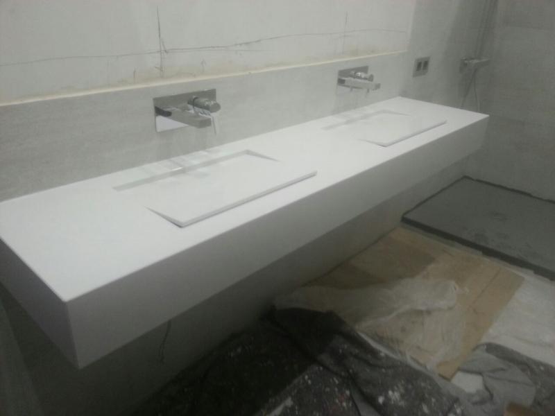 Lavabo armony de silestone marmoles goama sl for Encimera bano silestone
