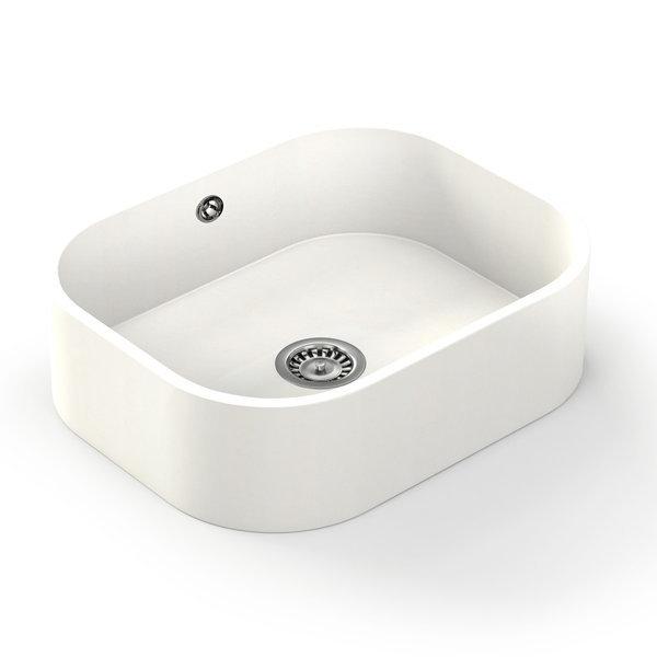 Fregadero silestone integrity color blanco zeus marmoles for Fregaderos blanco catalogo