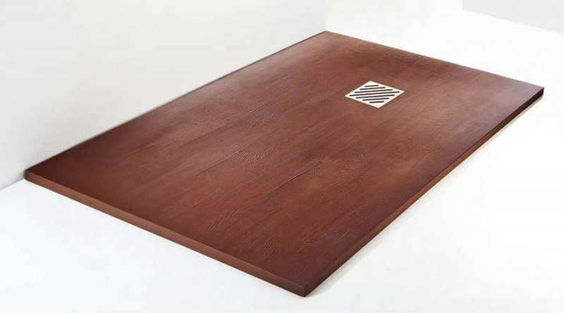 Plato de ducha silexgel textura retro madera piel for Ducha madera
