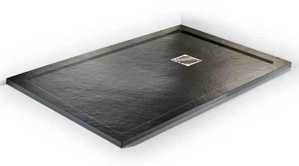 Plato de ducha silexgel textura retro madera piel - Plato ducha piedra natural ...