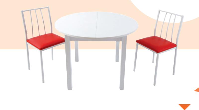 Mesa de cocina redonda plegable 22 marmoles goama sl - Mesa de cocina redonda ...