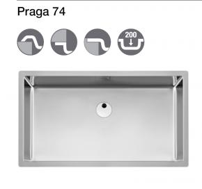 Fregadero praga 74 de 1 cubeta de acero inoxidable roca a870e10740 - Fregaderos roca acero inoxidable ...