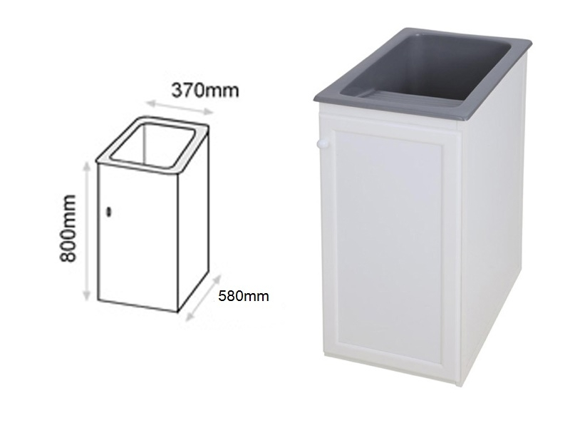 Mueble para pila de 40 cm de aluminio syan env o gratis a for Lavadero medidas