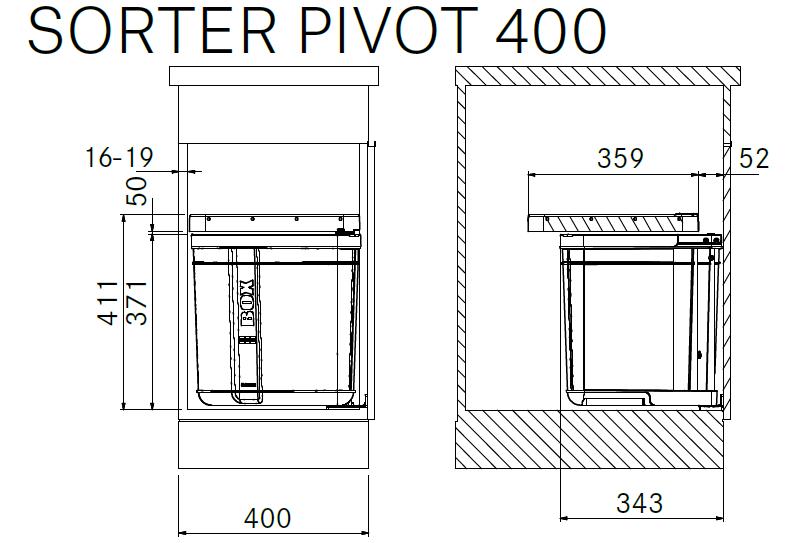 Cubo de cocina para mueble modelo sorter pivot 400 franke for Franke cocinas catalogo