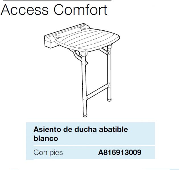 Asiento de ducha abtible con patas serie comfort de roca for Catalogo roca pdf