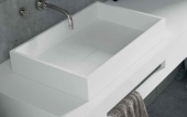 LAVABO SOLID SURFACE SOBRE ENCIMERA SQUARE LINE. ANYWAYSOLID
