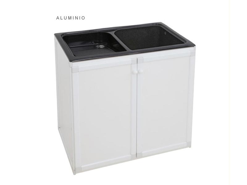 Mueble de aluminio color blanco syan env o gratis a la penisula - Mueble pila lavadero ...