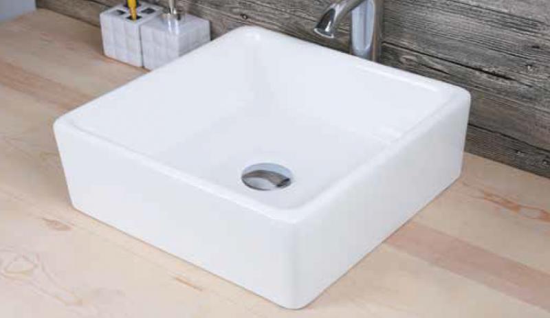 Lavabo sobre encimera cuadrado cagliary sanycces for Lavabos cuadrados sobre encimera