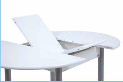 Mesa de cocina redonda extensible Rustica.mod 420 | Marmoles...