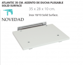 BELTRAN ATLANTIC 35 CM. ASIENTO DE DUCHA PLEGABLE SOLID SURFACE NOVEDAD