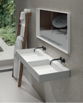 LAVABO SOLID SURFACE A PARED FLAT. BOLD